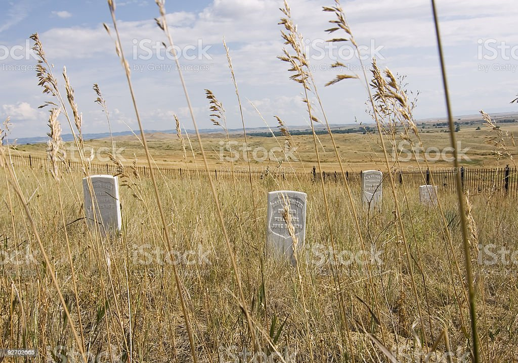 Little Bighorn Battlefield stock photo