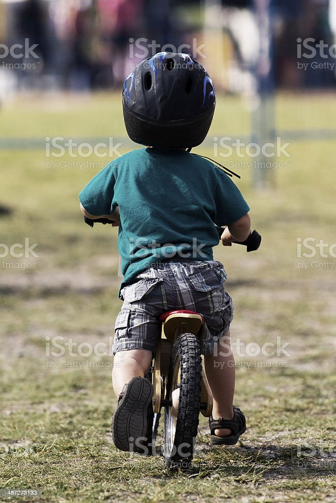 Little Bike Rider stock photo