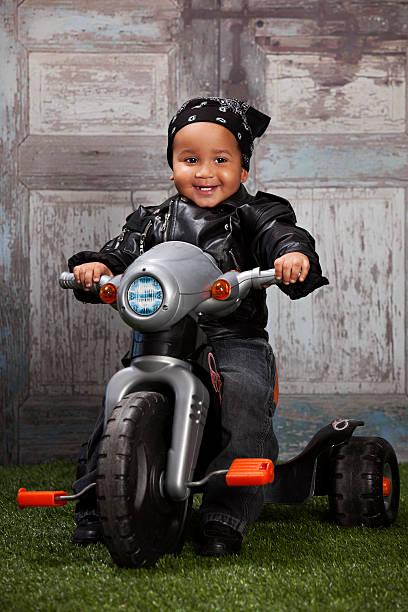 Little Biker stock photo