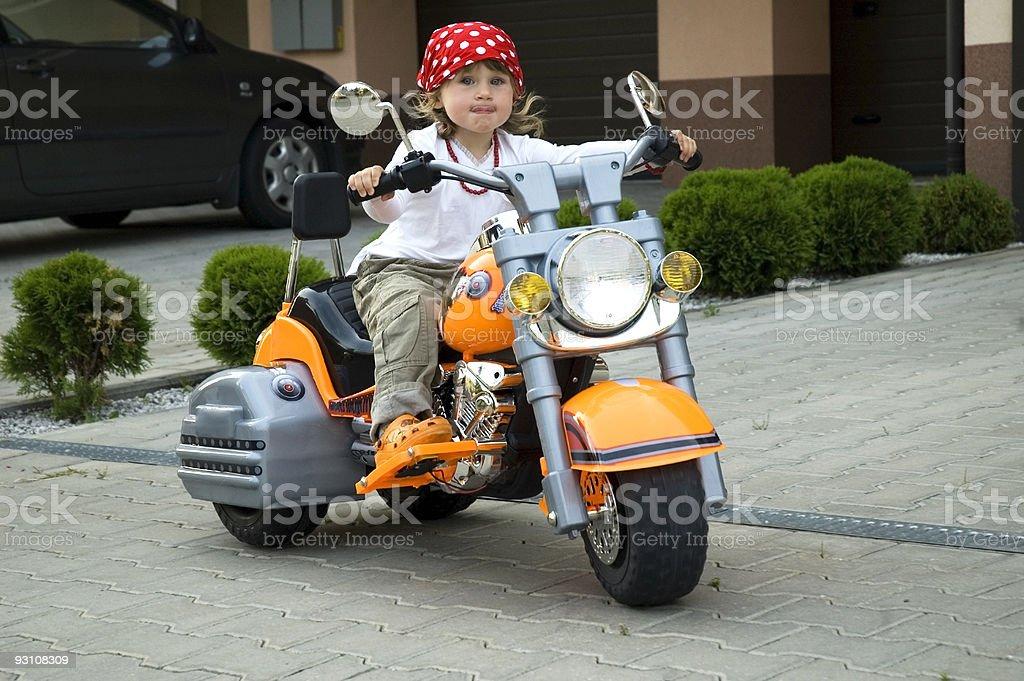 little biker royalty-free stock photo