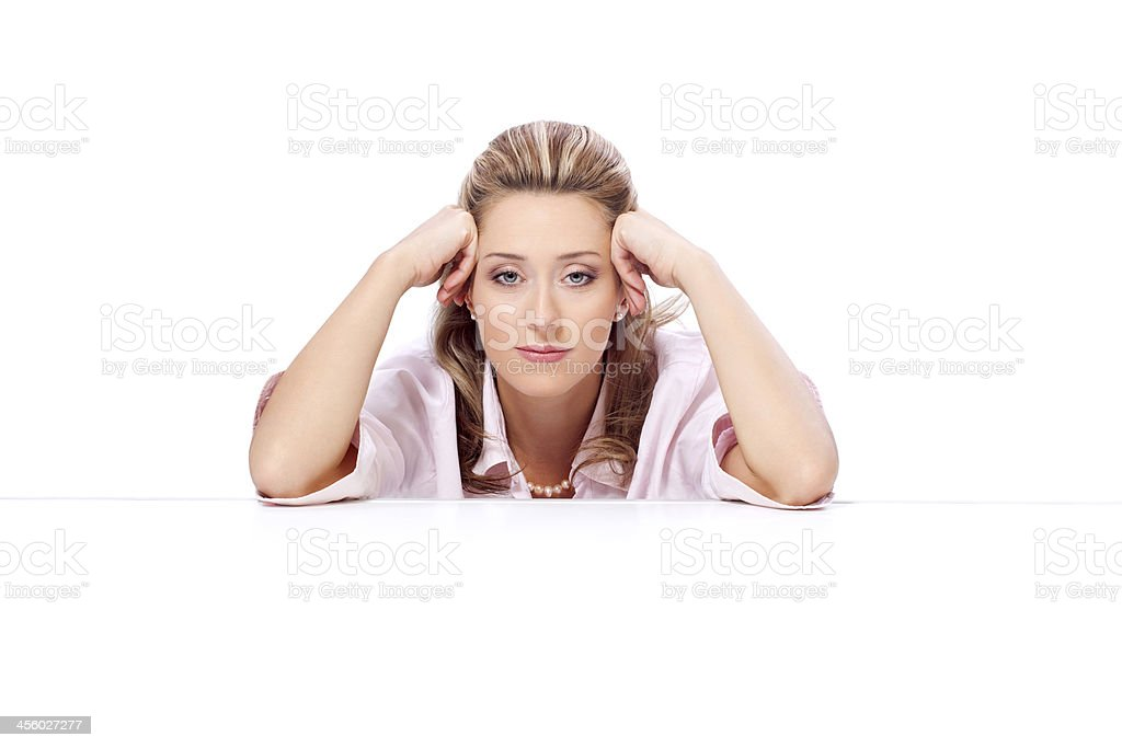 Little bit tired and bored royalty-free stock photo