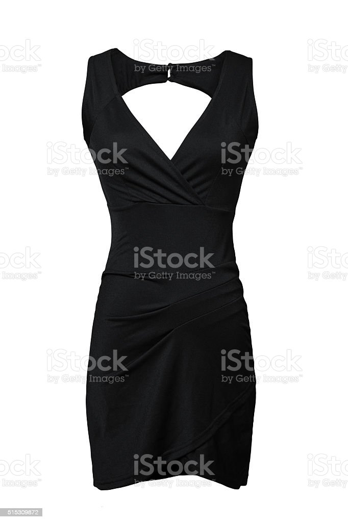 Little black dress isolated on white stock photo