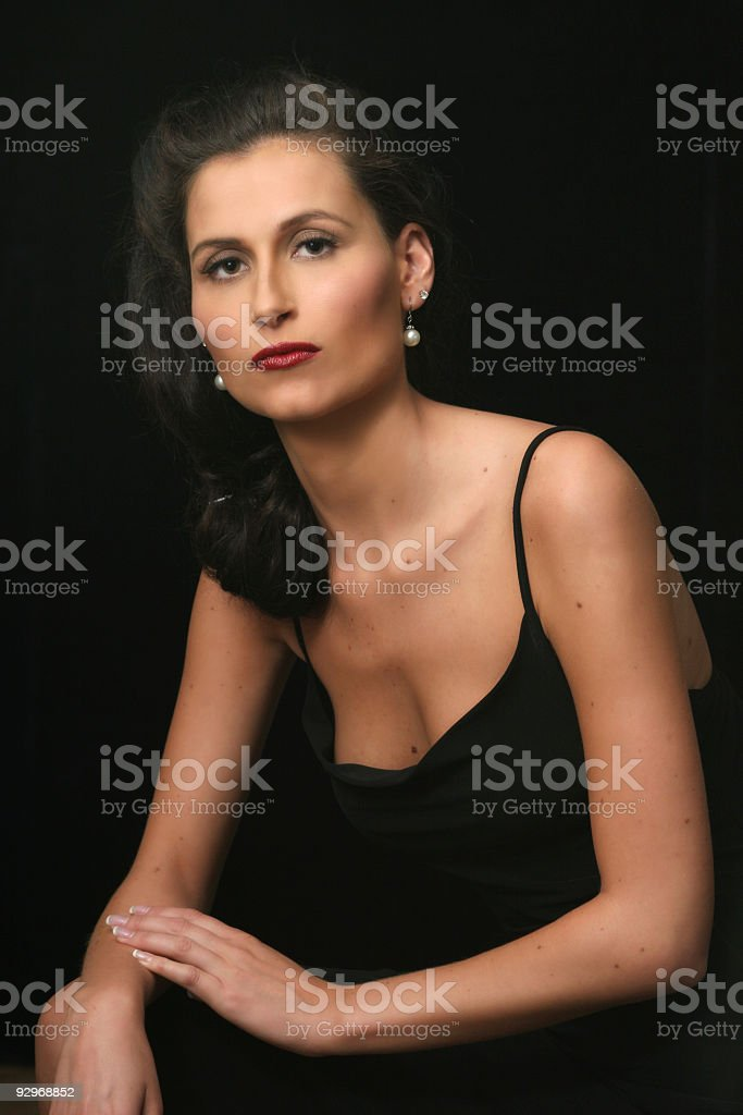 Little Black Dress Portrait stock photo