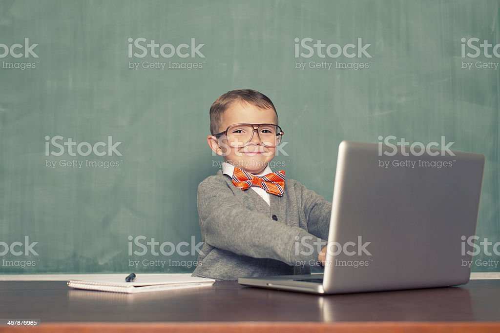 Little Blogger stock photo
