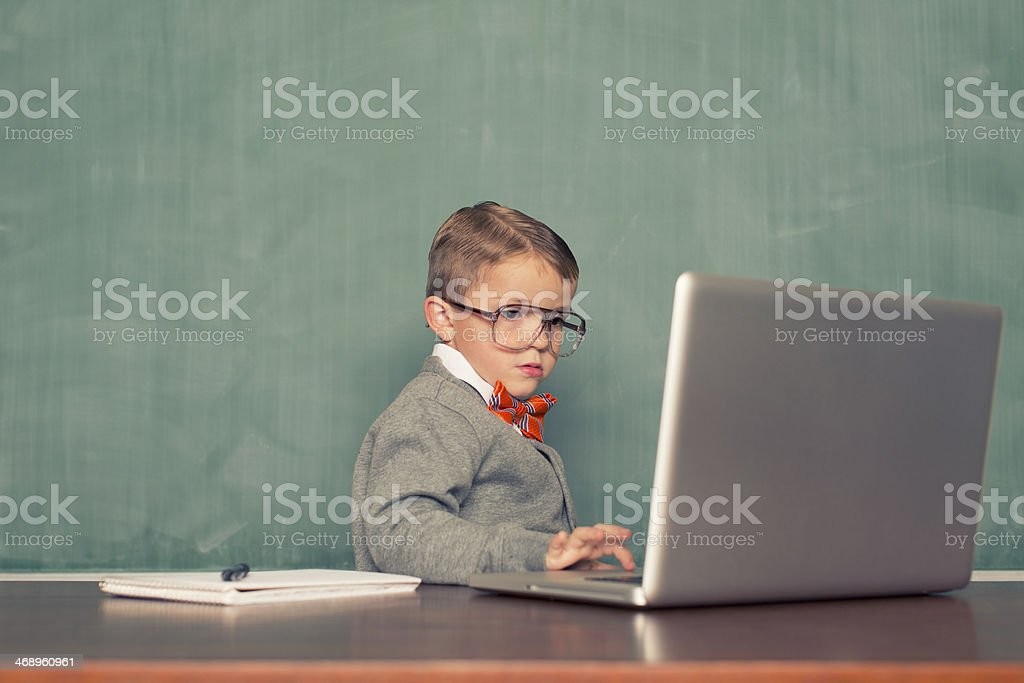 Little Blogger stock photo