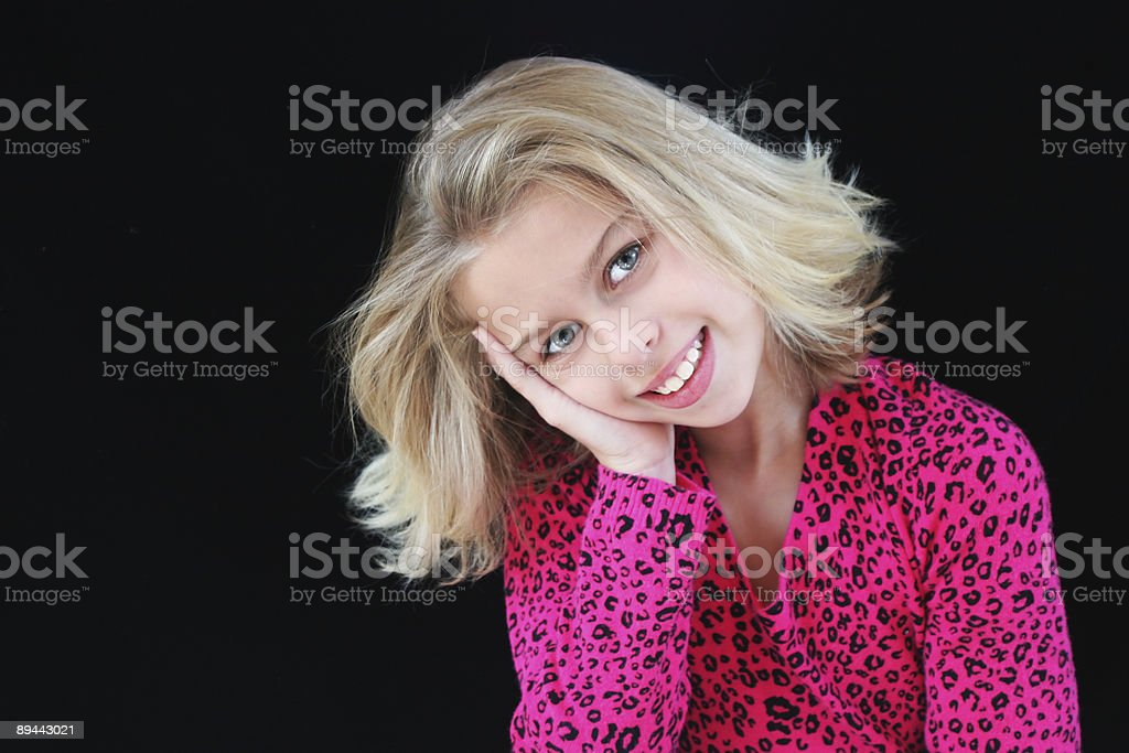 little blond girl royalty-free stock photo