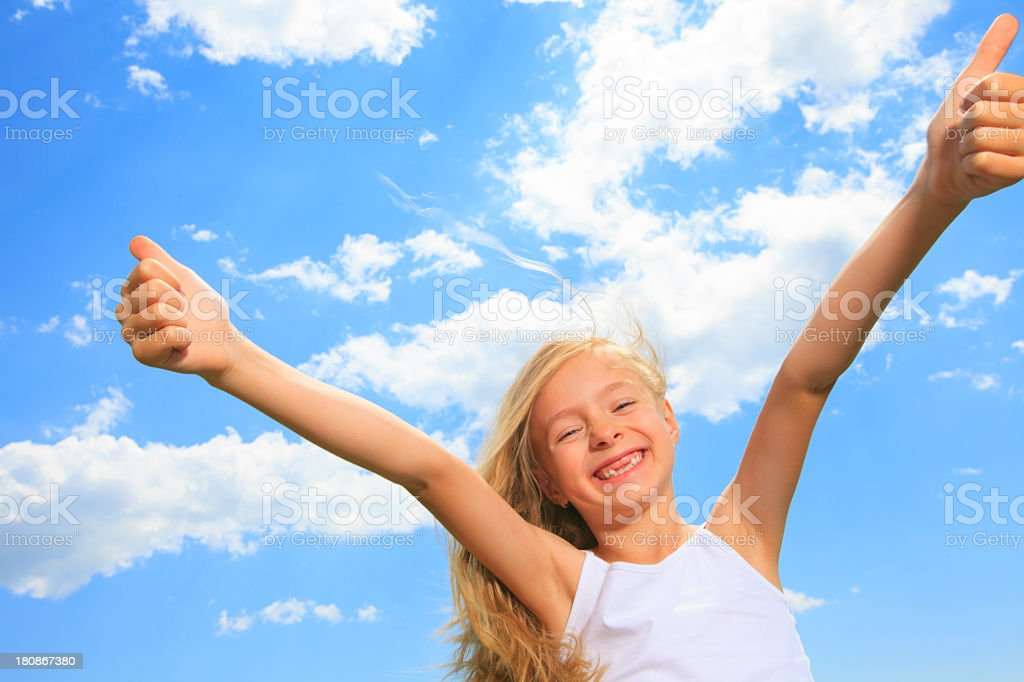 Little Blond Girl - Two Positive stock photo