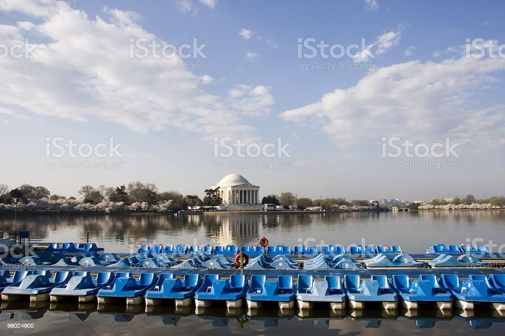 Little Blue Boats royalty-free stock photo