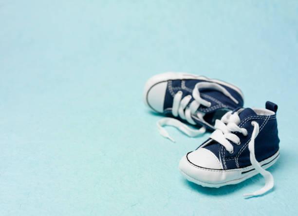 Little Blue Booties stock photo
