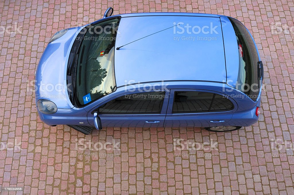 Little blue car royalty-free stock photo