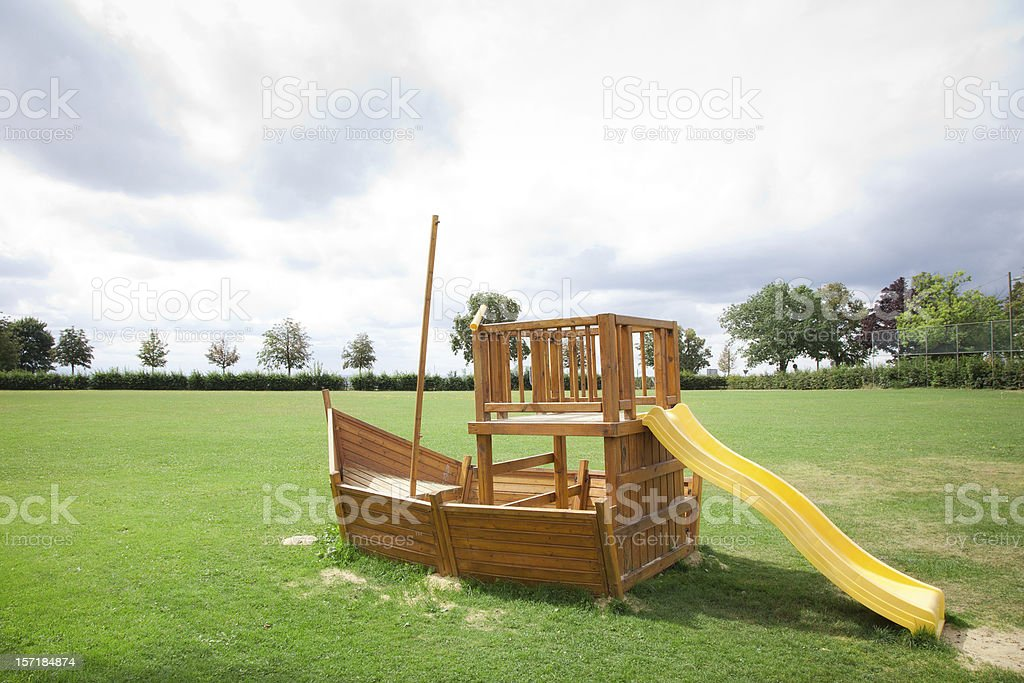 Little boat - Toy royalty-free stock photo