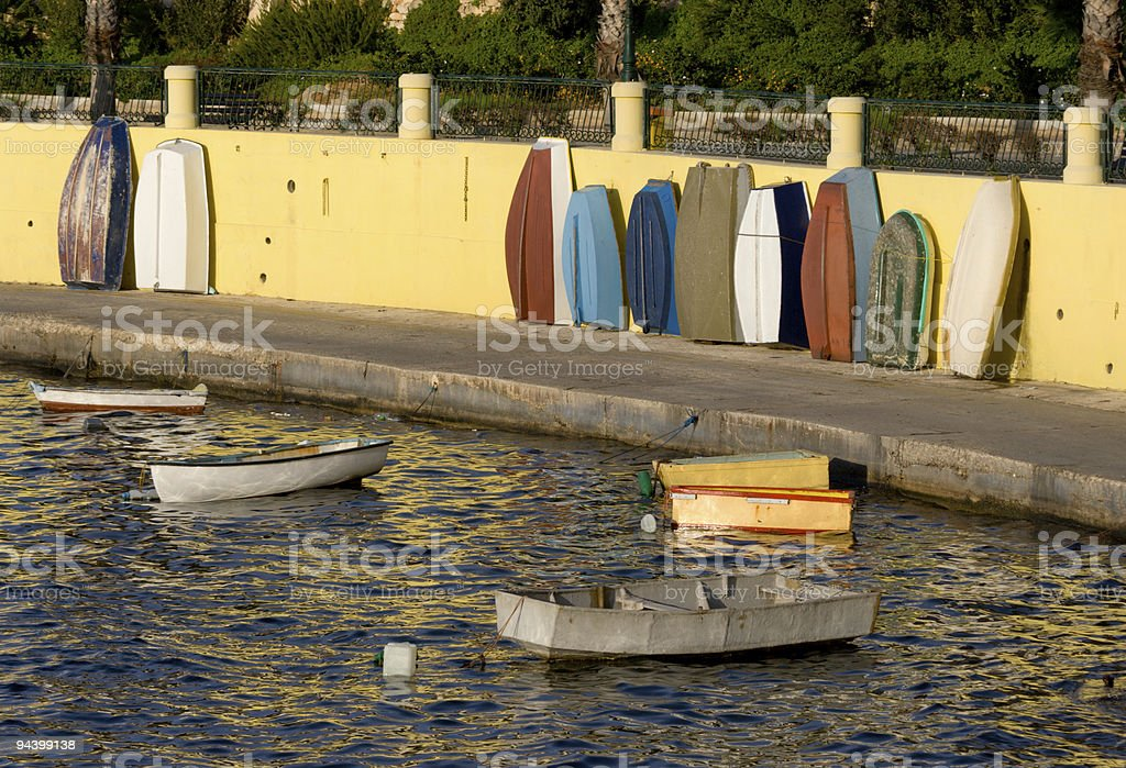 Little Boats In Harbor royalty-free stock photo