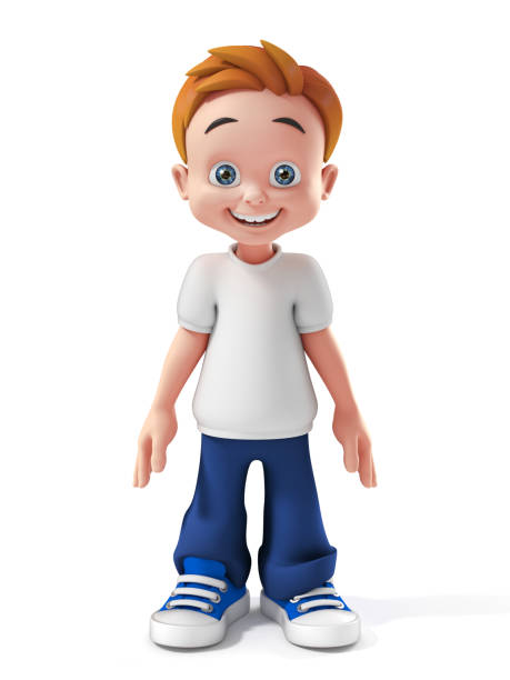 little boy 3d isolated illustration little boy 3d isolated illustration cartoon and kids stock pictures, royalty-free photos & images