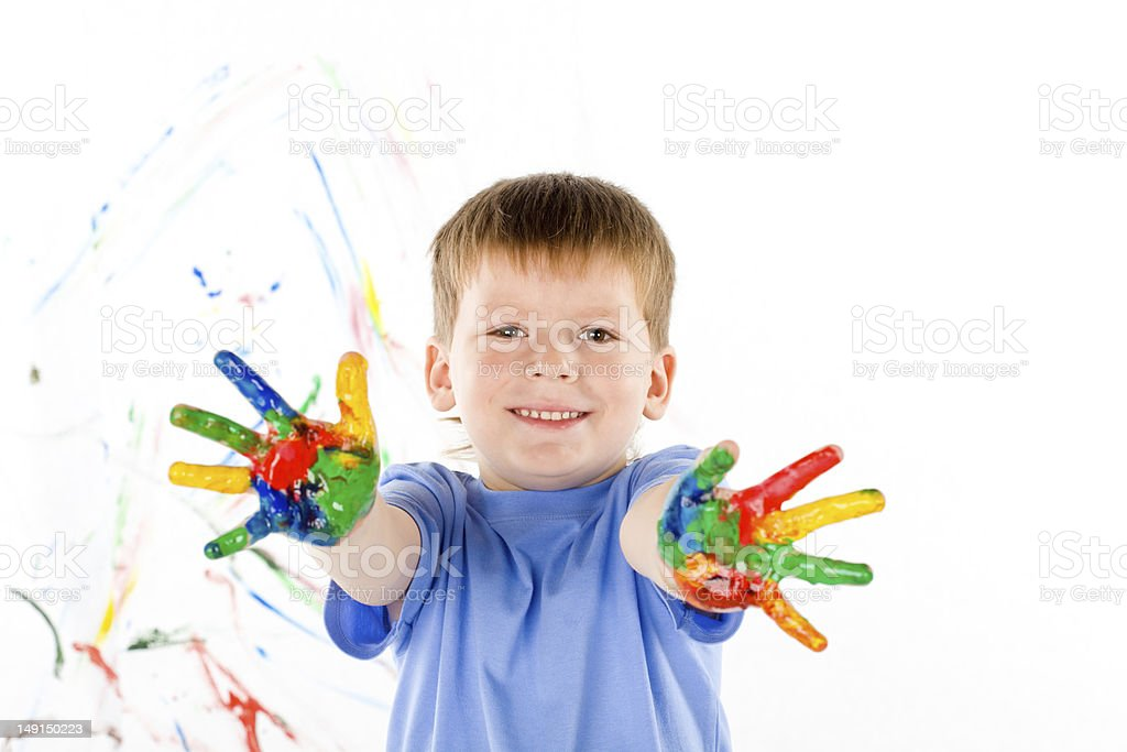 little boy and bright colors royalty-free stock photo