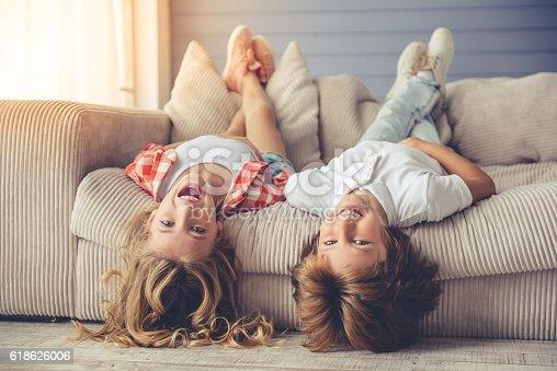 istock Little boy and girl 618626006