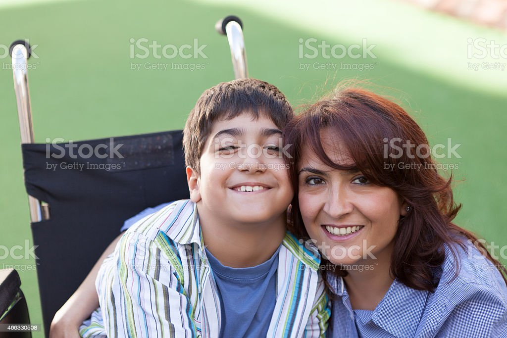 Little Boy and Mother stock photo