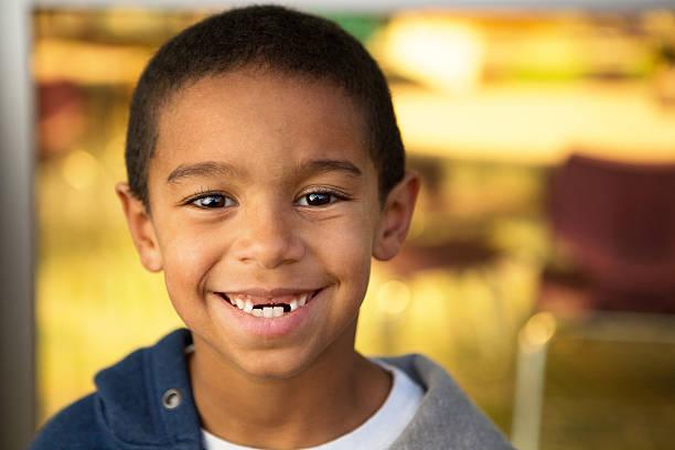 Little boy at school stock photo