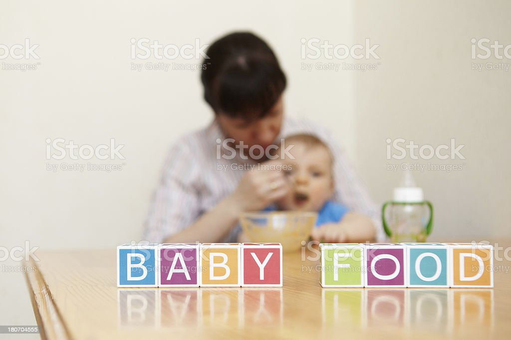 Little boy. Baby food. General concept. royalty-free stock photo