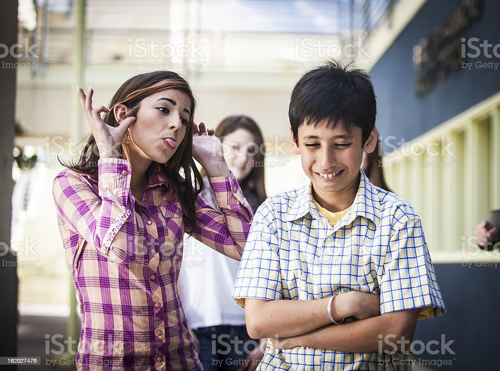 Little Boy Being Bullied royalty-free stock photo