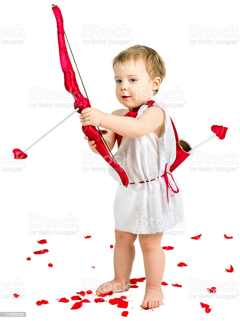 Little boy Cupid stock photo