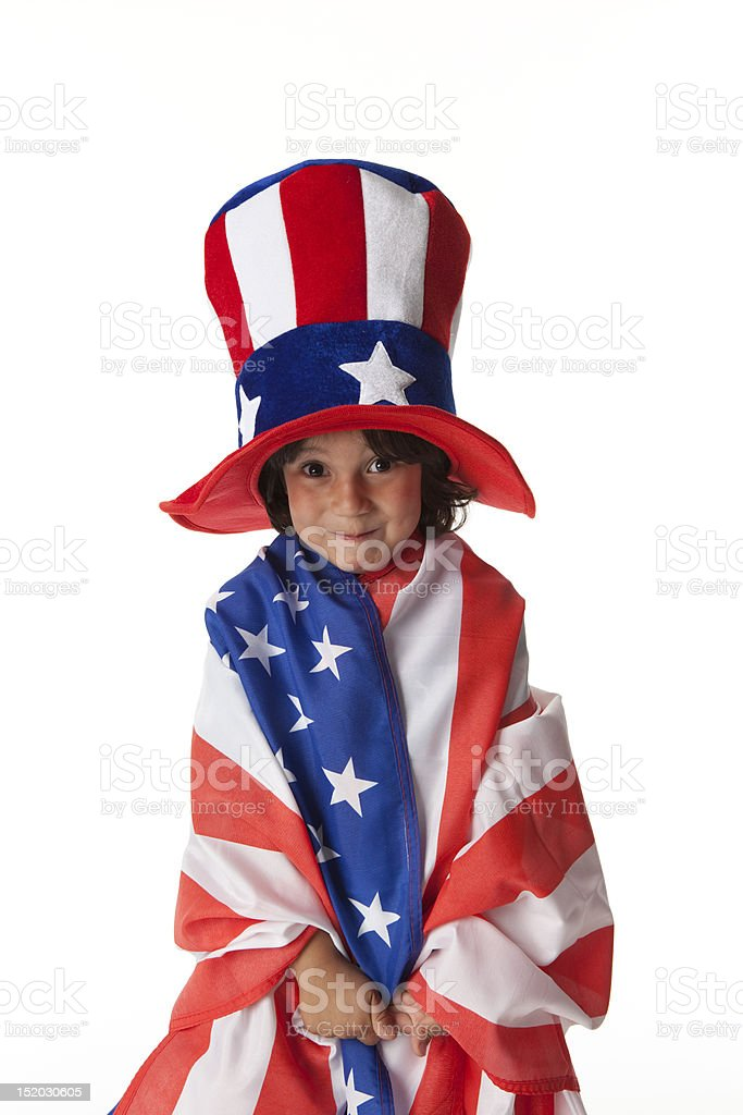 Little boy dressed as Uncle Sam royalty-free stock photo