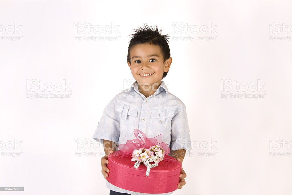 Little Boy Gift Box 2 royalty-free stock photo