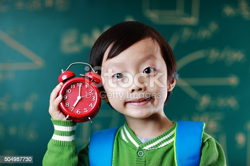 istock Little boy going to school 504987730