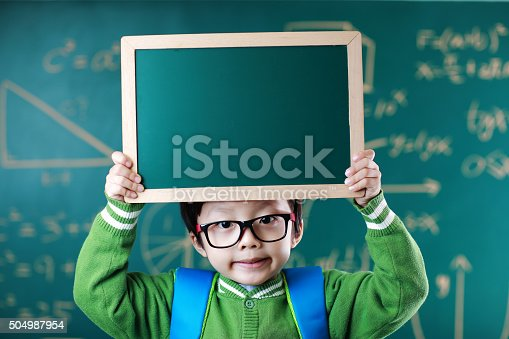 istock Little boy going to school 504987954