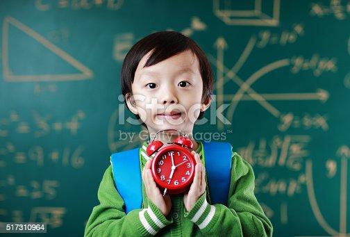 istock Little boy going to school 517310964
