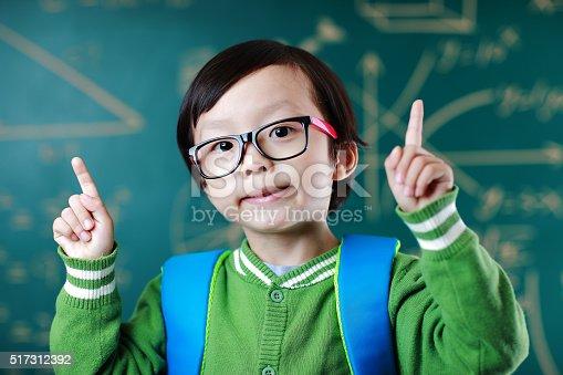 istock Little boy going to school 517312392
