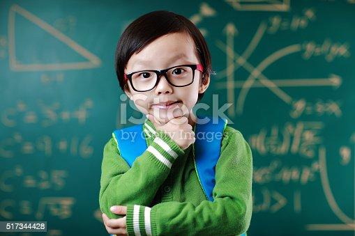 istock Little boy going to school 517344428