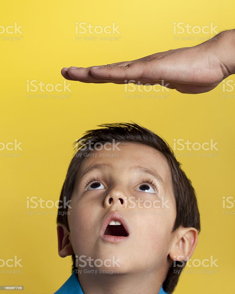 Little boy growing up stock photo