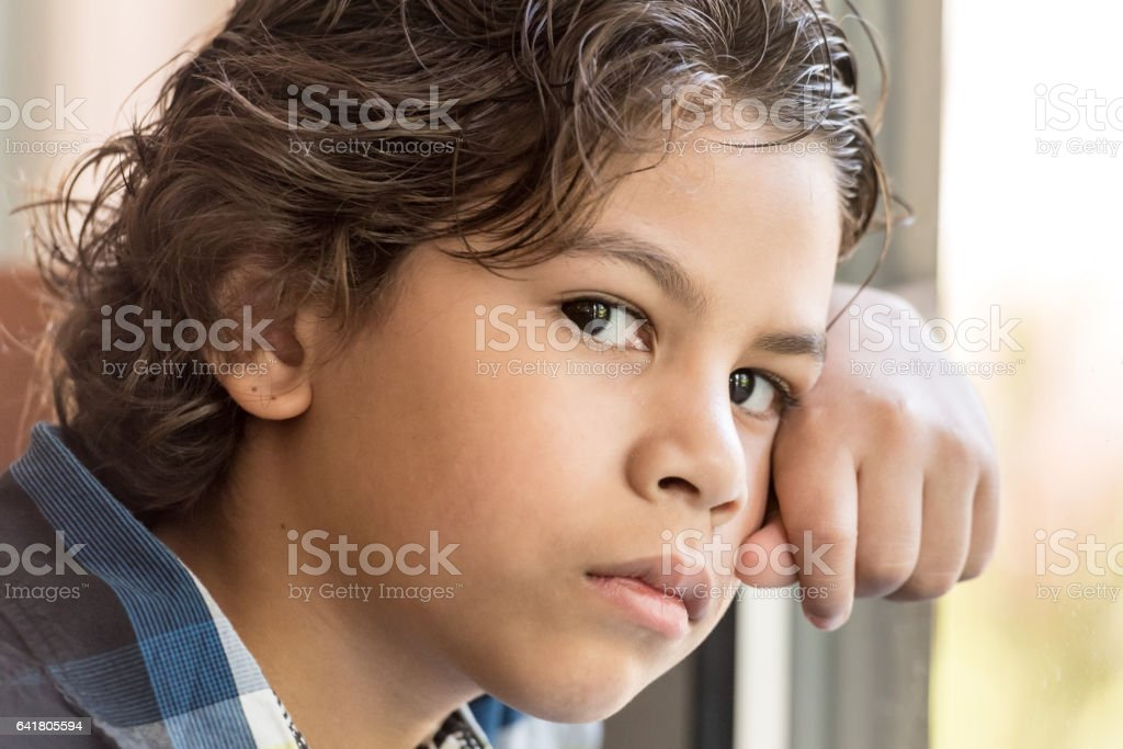 Little boy headshot stock photo