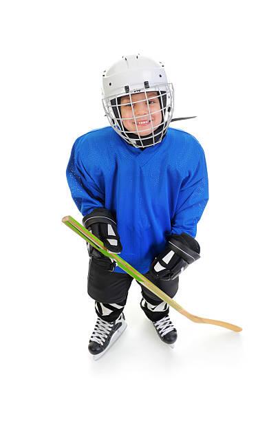 Little Boy Hockey Player stock photo