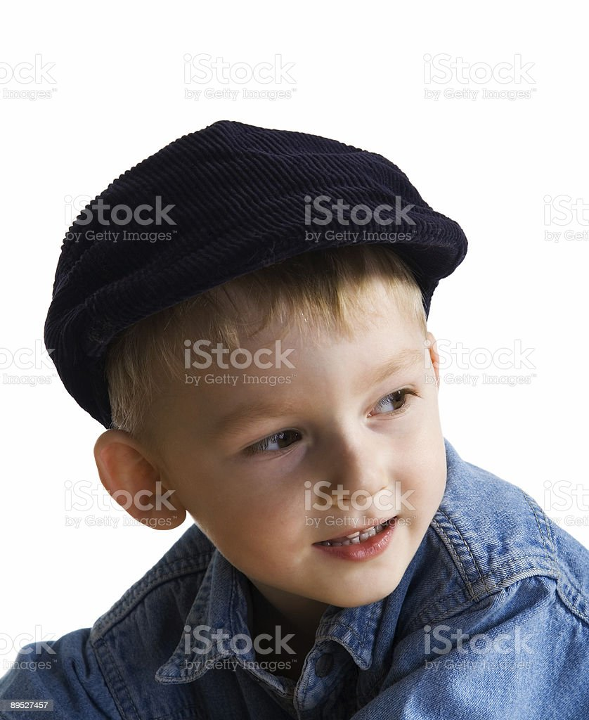Little boy in a cap royalty-free stock photo