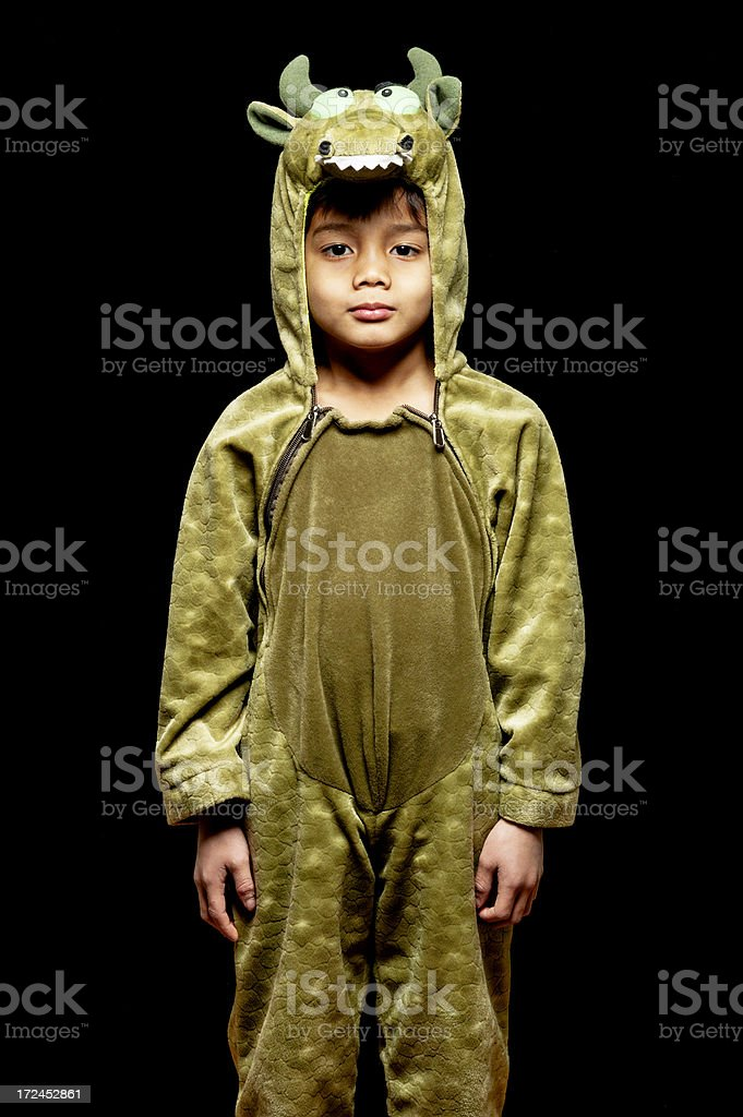 Little Boy in Dragon Costume royalty-free stock photo