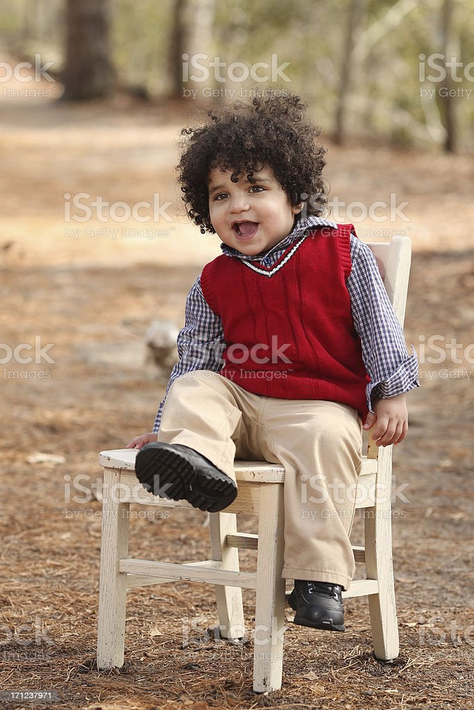 Little boy in Nature stock photo