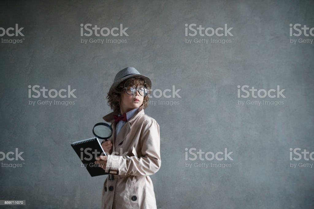 Little boy in studio stock photo
