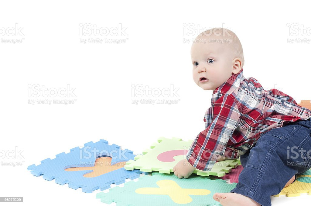 Little boy in studio royalty-free stock photo