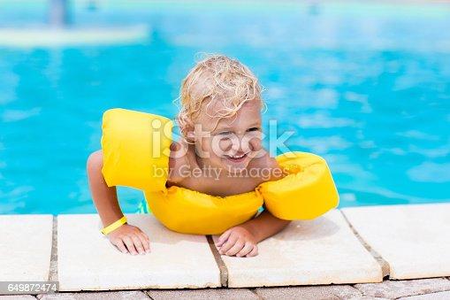 467327992istockphoto Little boy in swimming pool 649872474