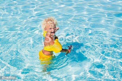 467327992istockphoto Little boy in swimming suit 674800234