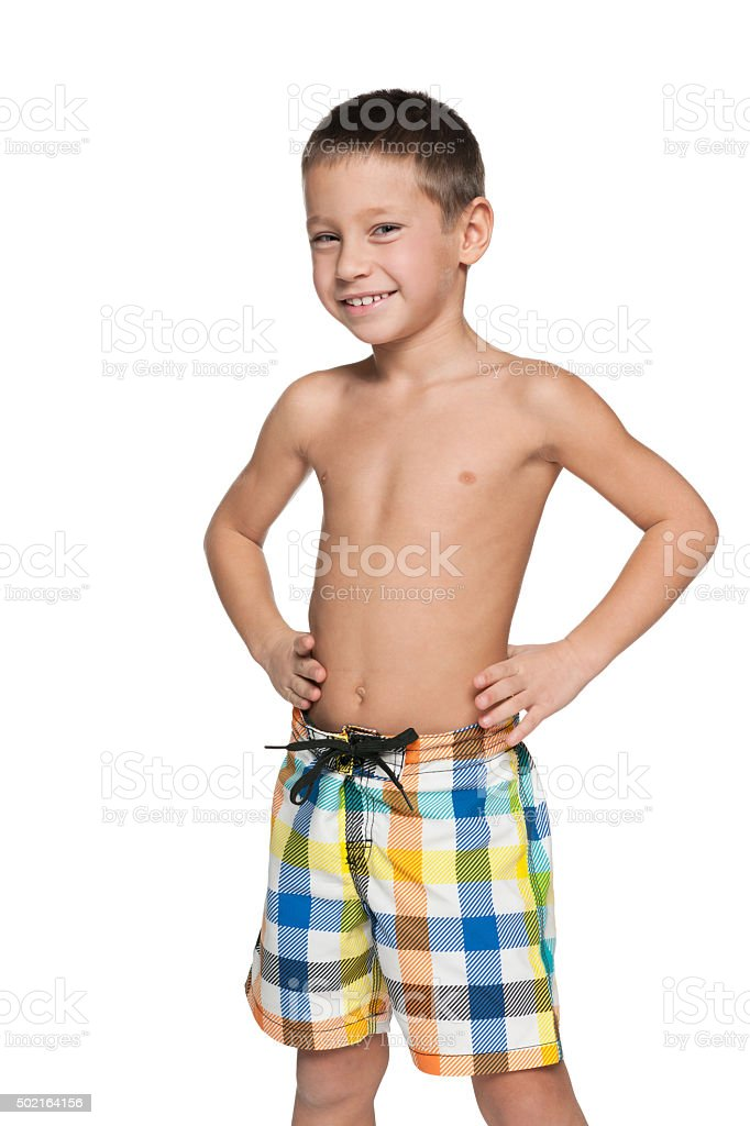 af52f65f0b887 Little Boy In Swimsuit Stock Photo & More Pictures of 2015 - iStock