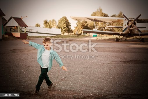 little boy in the airport