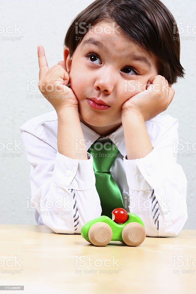 Little boy inventor royalty-free stock photo
