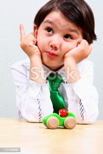 620402800istockphoto Little boy inventor 172439067