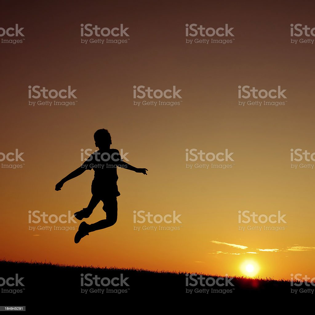 Little Boy Jumping in the Summer  - II royalty-free stock photo