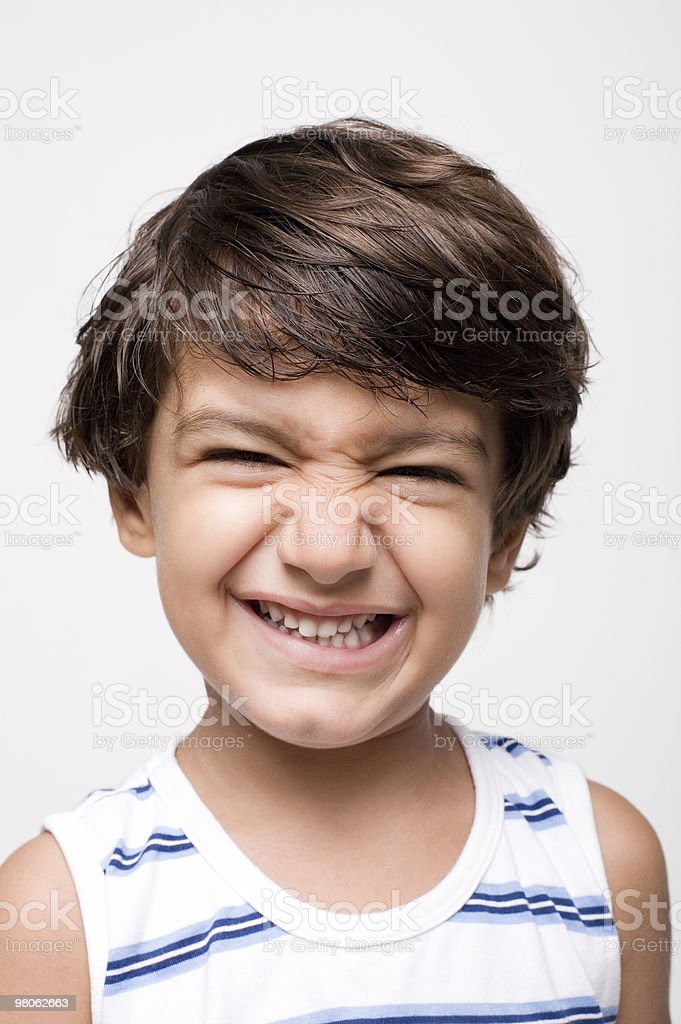 Little boy making a face royalty-free stock photo