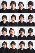 istock Little boy making various facial expressions 1279680268