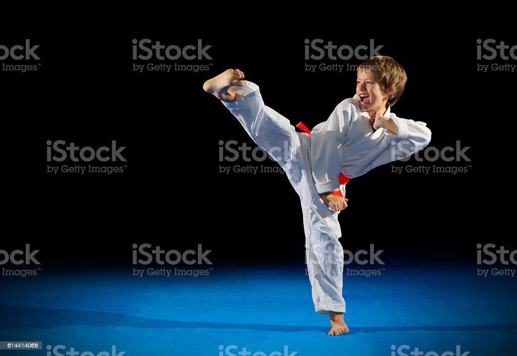 Little boy martial arts fighter – Foto