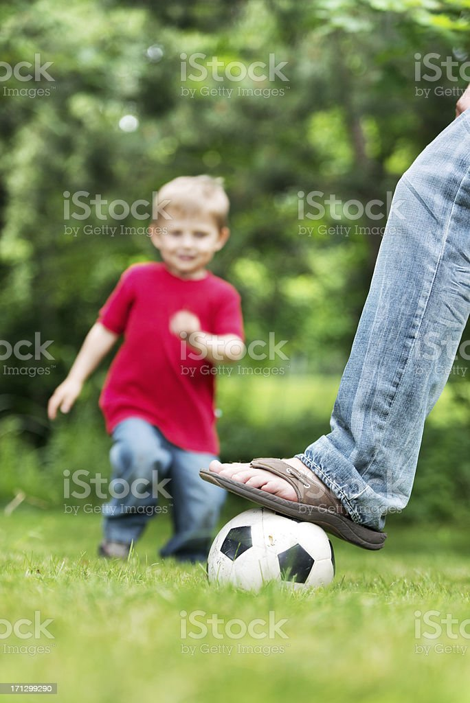 Little boy playing royalty-free stock photo